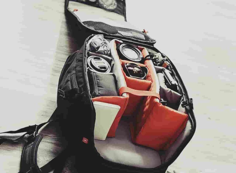 hiking backpack with camera compartment